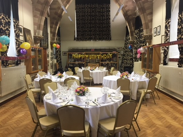 Old Chapel: Set up for a Birthday Lunch