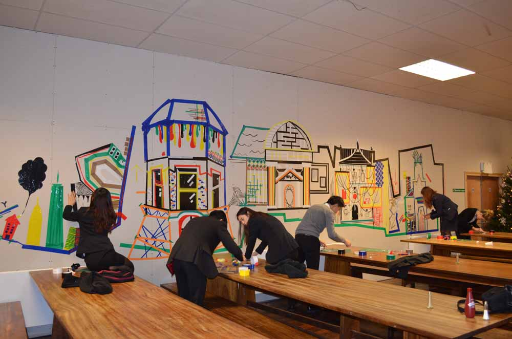 Tape House Murals 2015 - Dining Hall