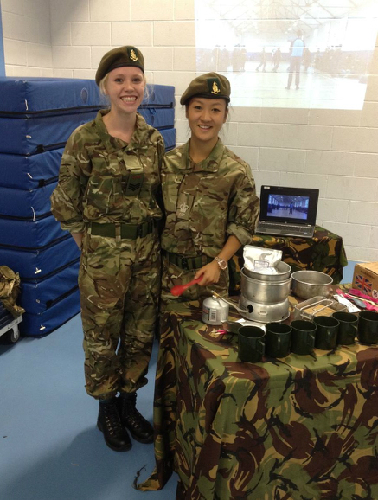 Cadets support open evening at local school